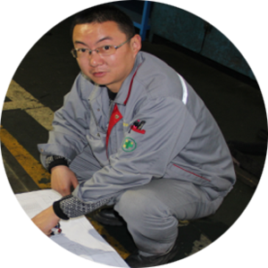 Liu Ping/Quality Manager Major in mechanical design and manufacturing, has 20 years of experience in mechanical inspection and quality control.